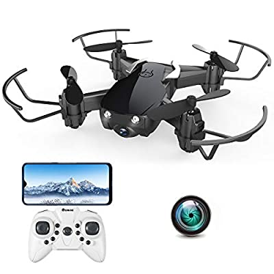 Mini Drone with 720P Camera for Kids and Adults, EACHINE E61HW WiFi FPV Quadcopter with 720P HD Camera Selfie Pocket Nano Drone for Beginner from EACHINE