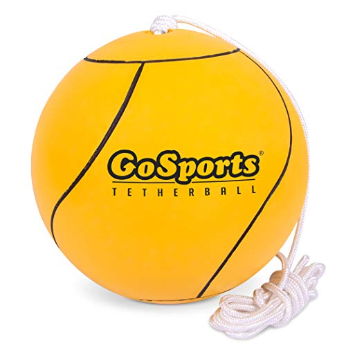 teather ball rules GoSports Tetherball and Rope Set, Full Size Backyard Outdoor Tetherball - Universally Compatible Tetherball Replacement