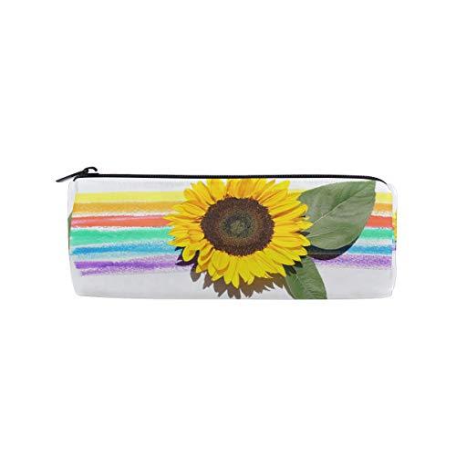 Für Studenten Mädchen Jungen Kinder Federmäppchen Blume Sonnenblume Pflanze Blütenblatt Stift Schreibwaren Tasche Kosmetik Make-up Tasche Geldbörse Reißverschluss Hipster
