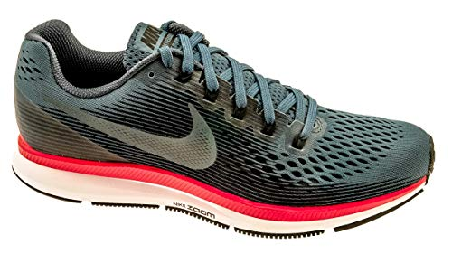 Nike Mens Air Zoom Pegasus 34 Running Shoes, Black/Armory Navy-red Obit, 7