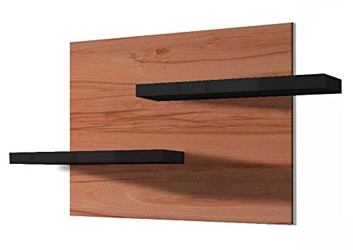 Regalwelt GmbH Mensola da Parete Picture, in faggio cuorato, Colore della mensola a Scelta, Legno, Nero Lucido, 110 x 60 x 15