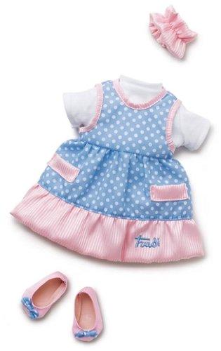 Trudi - 64379 - Poupée et Mini-Poupée - Robe à Pois - Bleu - 38 cm