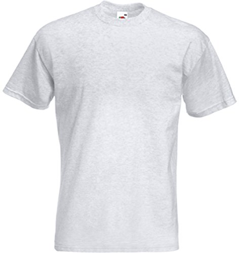Fruit of the Loom Herren-Super-Premium-Kurzarm-T-Shirt XL Asche