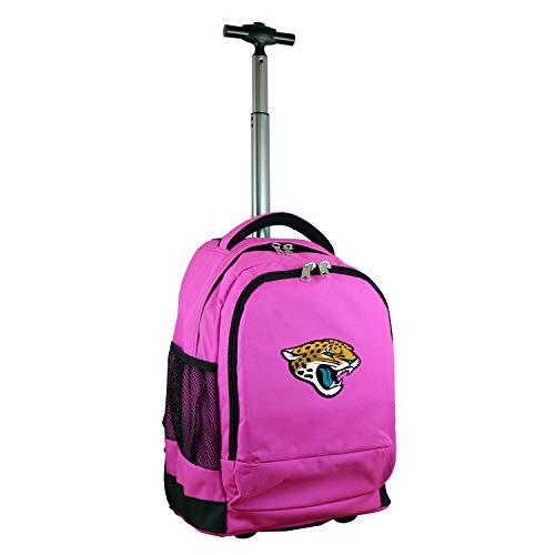 Denco NFL Jacksonville Jaguars Wheeled Backpack, 19-inches, Pink