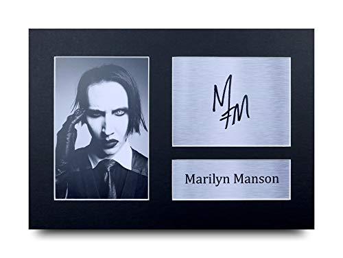 HWC Trading Marilyn Manson A4 Ungerahmt Signiert Gedruckt Autogramme Bild Druck-Fotoanzeige Geschenk Für Musik-Fans