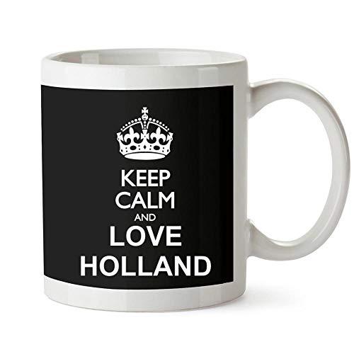 Idakoos Keep calm and love Holland - Taza (325 ml)