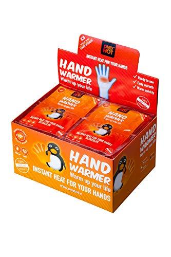 Only Hot Hand Warmers Handwärmer, 10 Stunden Wärme, einsatzbereit, selbstheizend, 100% natürlich, 40 Paar, Display Box
