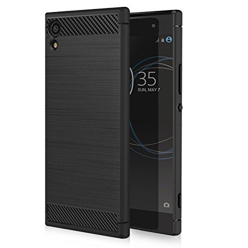 MoKo Sony Xperia XA1 Hülle - Premium Ultra Slim Leicht weiches TPU Protector Phone Case Handy Schutzhülle Schale Bumper für Sony Xperia XA1 Smartphone 5 Zoll (2017), Schwarz