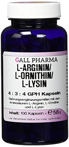 Gall Pharma L-Arginin / L-Ornithin / L-Lysin 4:3:4 GPH Kapseln, 100 Kapseln