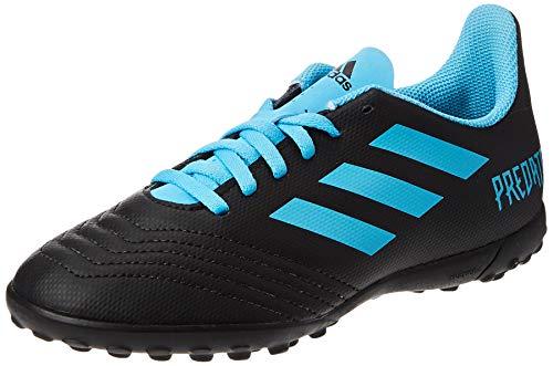 adidas Predator 19.4 TF J, Zapatillas de Fútbol para Niños, Multicolor (Core Black/Bright Cyan/Solar Yellow G25826), 31 EU
