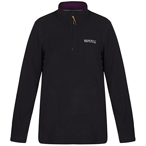 Regatta Damen Sweethart Fleece Pullover Jacke–Schwarz/Schwarze Johannisbeere, 38 EU