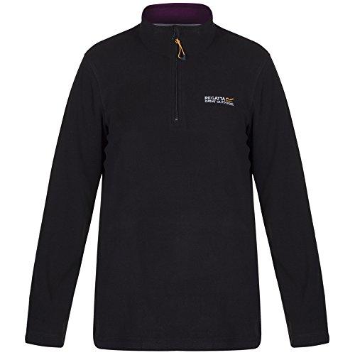Regatta Women's Sweethart Fleece Jacket - Black/Blackcurrant, Size 16