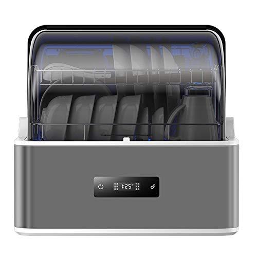 Comptoir Dishwasher,Portable Mini Lave-Vaisselle Petit Appartement Bureau et Maison Cuisine Ustensiles de Table Drying,Six procedures,6L Eau Requirement(220V-50Hz)