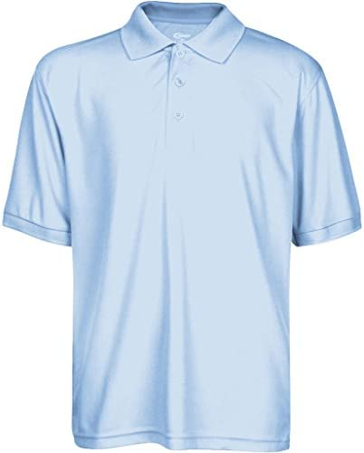 Premium High Moisture Wicking Polo T Shirts Light Blue L product image