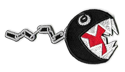 Chain Chomp Aufnäher (8,9 cm), Super Mario Brothers bestickt, zum Aufbügeln oder Aufnähen, Kostüm/Cosplay, Koopa Troop Souvenir