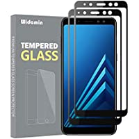 2Pack,Galaxy A8 2018 Cristal Templado,Protector Pantalla,garantía de por Vida, dureza 9H,Cristal Clearness,Resistente a los arañazos para Samsung Galaxy A8 2018