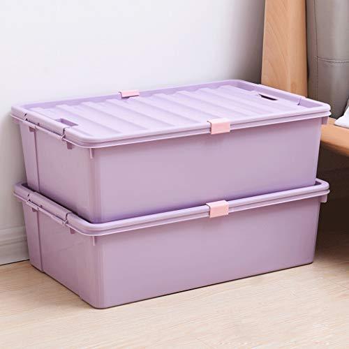 Caja para mudanza Baul Juguetes Infantil con Tapa I Una Práctica Caja De Almacenamiento para Cada Cuarto De Niños I Baul Juguetes Infantil I Caja Juguetes I Almacenaje Juguetes (Color : Purple)