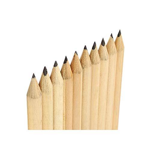Set van 50 potloden (19 cm lengte, type 4, met gum)