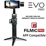 EVO PRO Smartphone Camera Stabilizer with Focus Pull and Zoom - Compatible with iOS iPhone or Android Smartphones, FiLMiC PRO APP Compatible - Includes Tripod Stand