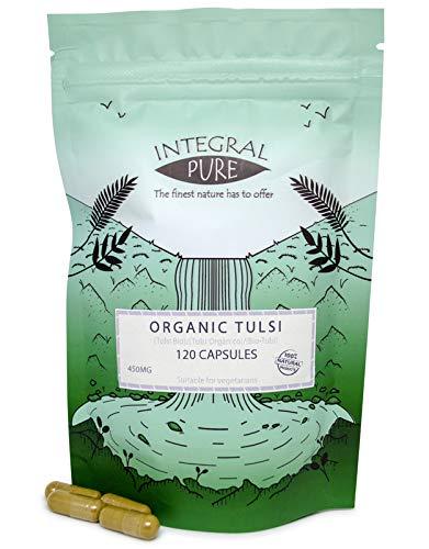 Tulsi Veggie Capsules | Organic Certified | 500mg Capsules | Holy Basil Capsules (90 caps)