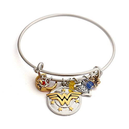 **Premium Quality***Wonder Woman Charm Bracelet with Armour/Tiara/Crystals Diana Prince Justice League Cosplay Adjustable Expandable Bangle Bag with All Orders* …