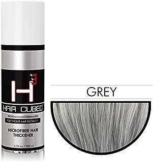 Hair Cubed® -Grey, Hair Building Fiber Spray -(Water Proof) Lasts 2 - 5 Months