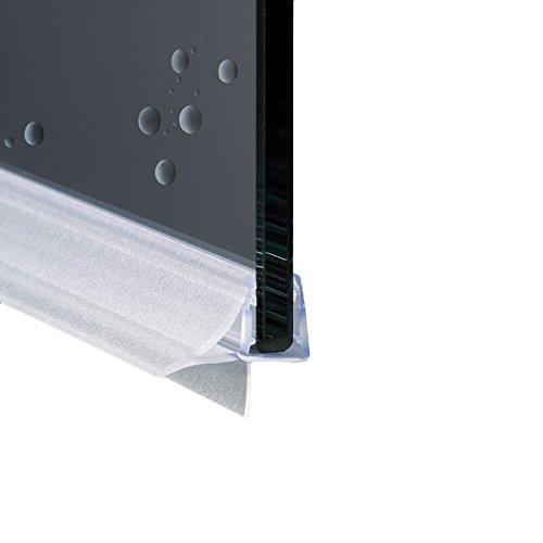 Junta para cabina de ducha con perfil horizontal de repuesto con aleta suave desagüe | Cristal 6 mm 8 mm EC-10-604 (95)