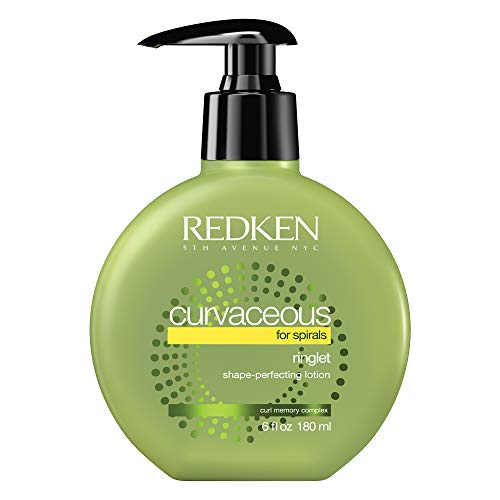 Redken Curvaceous Ringlet Shape-Perfecting Lotion | for Curly Hair | Provides Frizz-Free Control & Enhances Shine | 6 Fl Oz