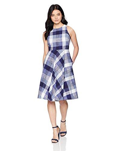 Eliza J Women's Sleeveless Fit and Flare Dress Navy, 14 Petite