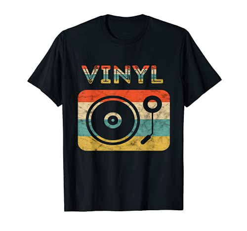 Record Player - Tocadiscos de vinilo retro vintage para atardecer LP EP Camiseta