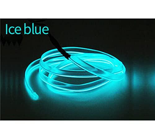 1/2/3 / 5m Interior del automóvil EL LED Luz de la tira de neón para lámparas decorativas automáticas TUBO FLEXIBLE ATMASPOS DE VEHÍCULOS AMBIENTE ILUMINACIÓN (Color Temperature : 5 Meter)