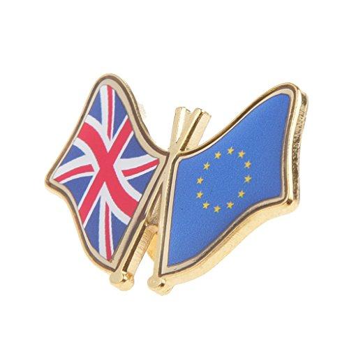 Bonarty 1stk. Ehrennadel Knopf Abzeichen Button Badge UK EU Flagge Muster