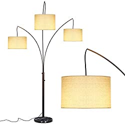 3-Light Tree Floor Lamps for Living Rooms & Bedrooms