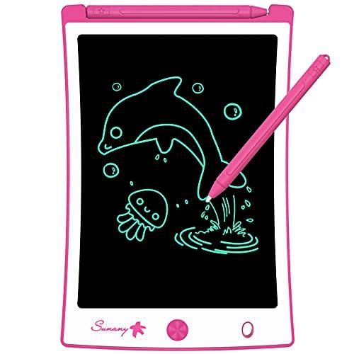 Sunany Tavoletta Grafica LCD Scrittura 8.5 Pollici,LCD Writing Tablet,Lavagna da Disegno Portatile Digitale con Pulsante di Blocco, Regali per Bambini e Adulti (Rosa)
