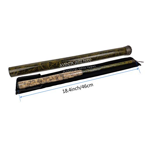 Z Aventik Pro IM12 Nano 6:4 Action Tenkara Rods 5 Most Used Sizes All Water Conditions, Extra Spare Sections Included,10'8'' 11'10'' &12'9'' Tenkara Fly Rods (12'9'' 11sec (Standard))