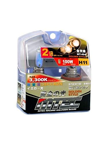 MTEC H11 Hochleistungs-Leuchtmittel, 12 V, 55 W, JDM Gelb