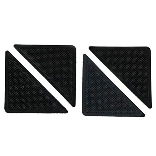 12 pegatinas de fijación antideslizantes triangulares de poliuretano que no dejan marcas respetuosas con el medio ambiente, puede fijar la alfombra en su lugar y se puede reutilizar (4)