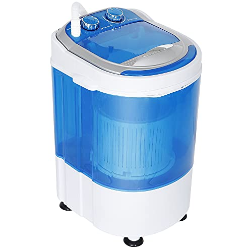 SUPER DEAL Mini Washing Machine Compact Counter Top Washer with Spin Cycle Basket and Drain Hose for Camping, Traveling, Apartments, Dorms, RVs