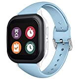 Diaomao Compatible with Gizmo Watch Band Replacement 20mm for Kids Girls Boys, Premium Soft Silicone Adjustable Slim Sport Wristbands Strap for Verizon Gizmo Watch 2/1 (Light Blue)