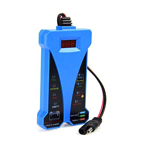 SHIJING Die neueste Smart-Digital-Batterie-Prüfvorrichtung-LED-Anzeige 12V Voltmeter Generator Analyzer für Auto-Motorrad-Boots-Elektrowerkzeug