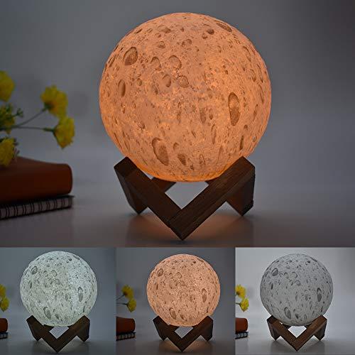 Lampada da tavolo creativa Explosion lampada da tavolo per bambini lampada da tavolo creativa lampada dipinta gocce di pioggia led3d, 15cm touch modelli colorati, 1.5W