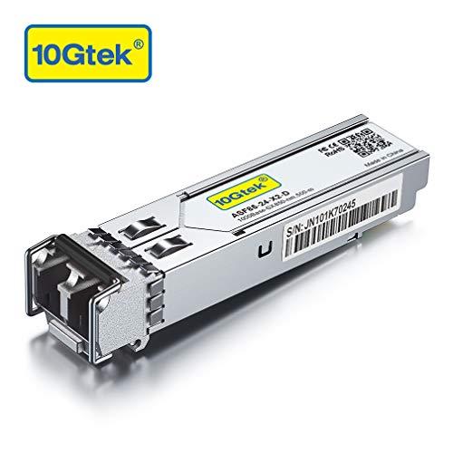 1G SF SX Multimode Mini Gbic Modul - 1000Base-SX LC Transceiver Kompatibel für Cisco GLC-SX-MMD/GLC-SX-MM, Meraki MA-SFP-1GB-SX, Mikrotik S-85DLC05D, Ubiquiti, Netgear, D-Link, Zyxel, Open Switch