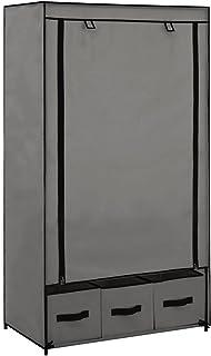 SKM Garde-Robe Gris 87 x 49 x 159 cm Tissu