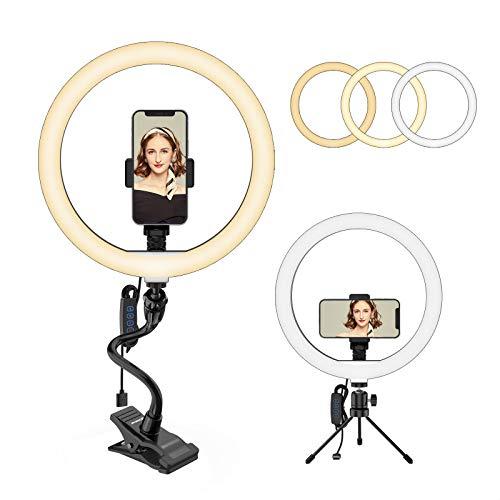 """Smatree Anillo de luz de 12""""con Soporte para teléfono, Soporte de luz LED para Anillo de Selfie para Maquillaje, transmisión en Vivo y Video de Youtube Compatible con iPhone Android"""