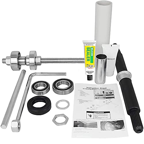 OCTOPUS W10435302 & W10447783 Bearings Tool Kit Compatible Washing Machine Includes grabber fix all Adhesive Washer Shaft Replace Washer Bearing Replacement Dryer Bearing Kit Dryer Shaft