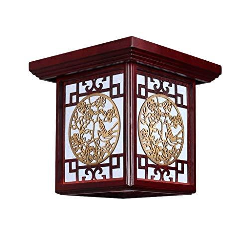 Iluminación de techo de interior Balcón de techo del LED luz del pórtico de madera de la lámpara de luz del pasillo Estilo Colgante accesorio de iluminación de techo chino Luz de techo regulable