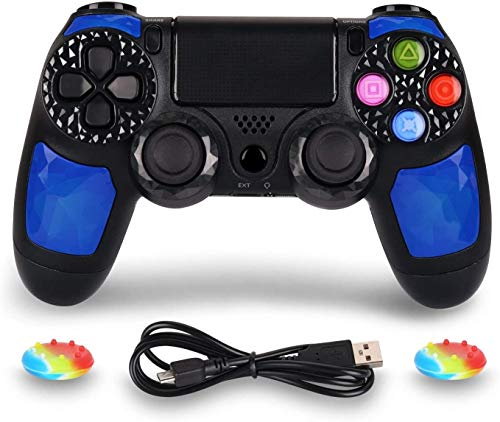 Controller for PS4 Wireless Controller for Playstation 4 - OUBANG PS4 Remote Control with Charging Cable,Good Choice on PS4 Game Joystick Gift for Christmas,Brithday (Ruby)