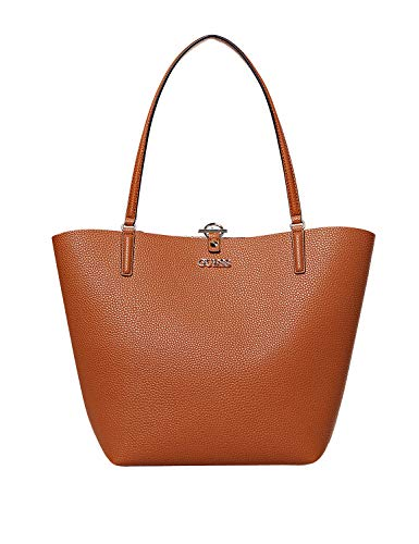 Guess Alby Toggle Tote Cognac/Rosegold