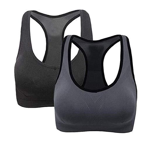 VJGOAL dames BH 2PC full colour sport yoga lopen fitness vest hoge intensiteit ademend stootvast ondergoed