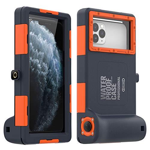 Carcasa de telefono Caso profesional de buceo Fit For Samsung Note 10 Plus 8 9 Caso 15 metros Cubierta a prueba de agua Fit For Galaxy S10E S8 S9 PLUS S6 CAPA ( Color : Black , Material : Galaxy S10 )